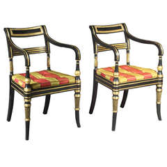 Antique Pair of Regency Chairs