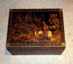 Antique Chinoiserie Regency Box