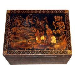 Antique Chinoiserie Regency Box