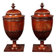 Antique Pair Of Knife Urns