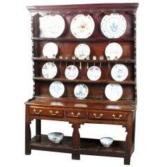 Antique oak potboard dresser