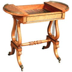 Antique Maplewood Games Table