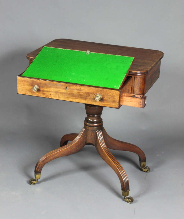 English Antique Writing or Occasional Table For Sale