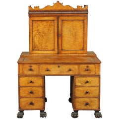 Chinese made amboyna desk