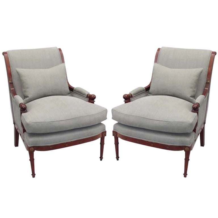 Pair of 20th Century Empire Style Armchairs at 1stdibs