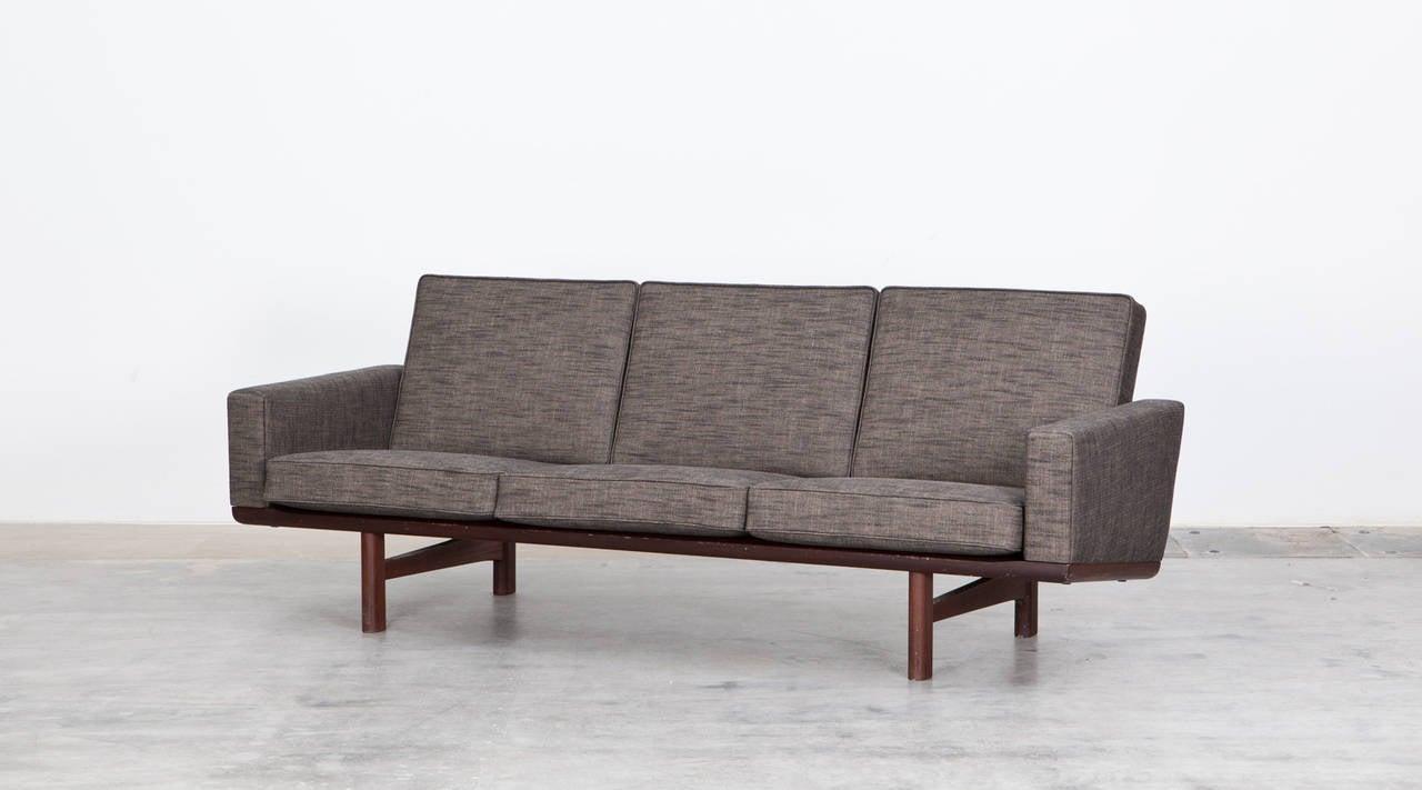 Hans Wegner 3 Seater Sofa New Upholstery For Sale At