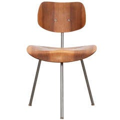 1950s beech plywood Three-Legged Chair by Egon Eiermann