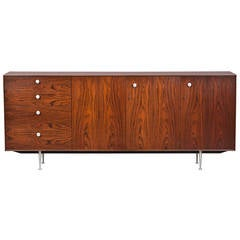 1950s Brown Wooden Credenza by George Nelson