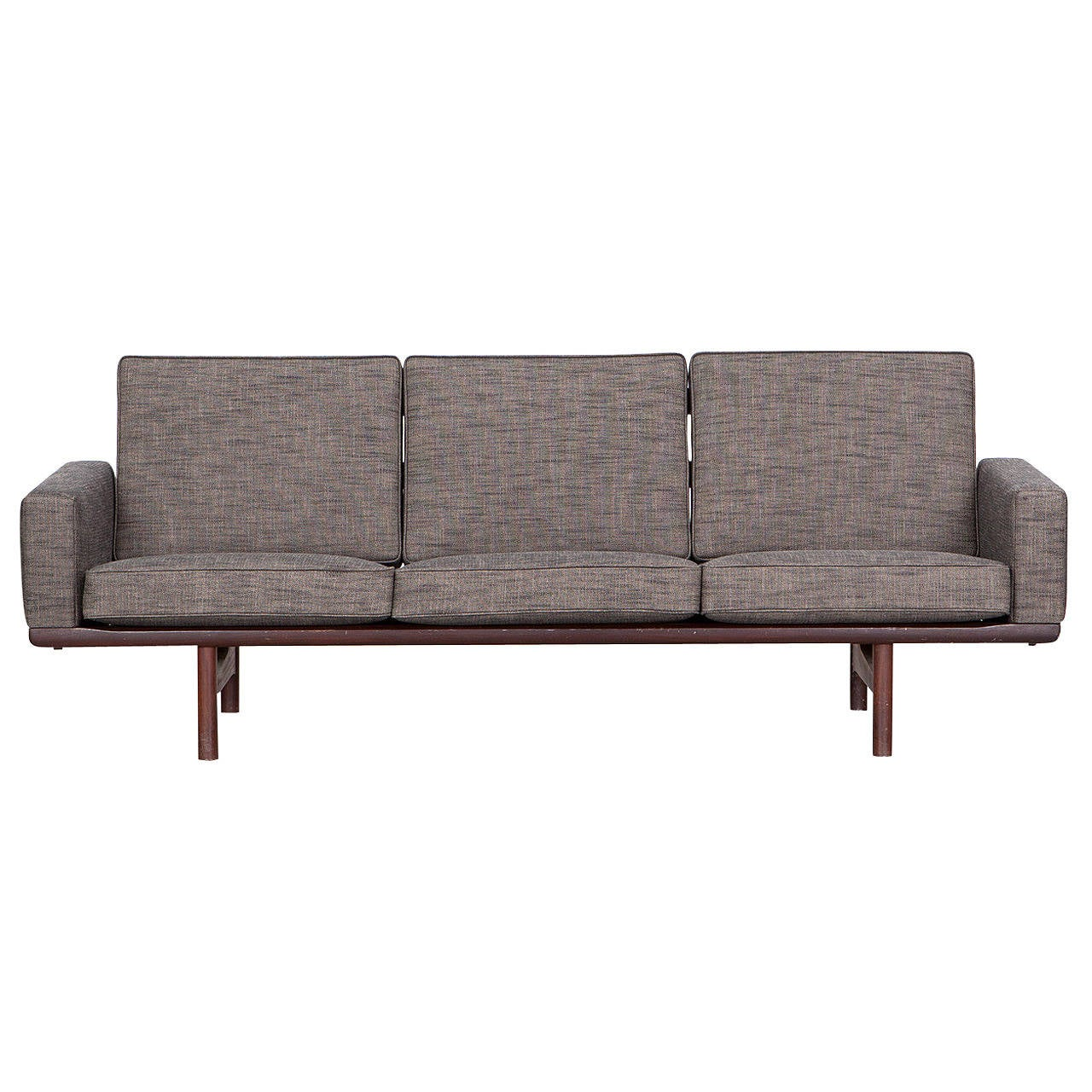 hans wegner three seat sofa new upholstery for sale at 1stdibs. Black Bedroom Furniture Sets. Home Design Ideas