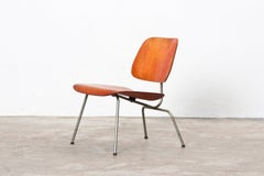 1940's red analine LCM Chair by Charles & Ray Eames