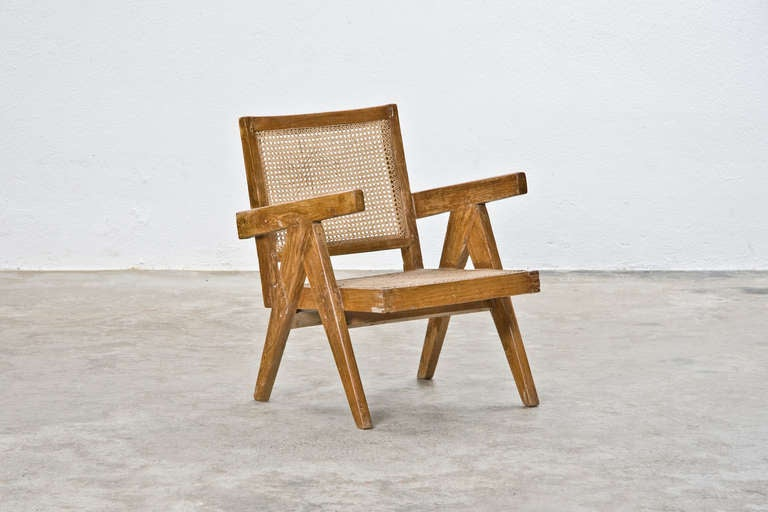 Mid-Century Modern Two Pierre Jeanneret Lounge Chairs For Sale