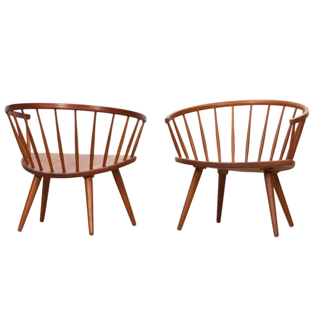 Pair of Yngve Ekström Lounge Chairs
