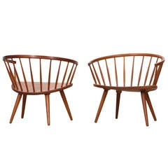 Pair of Yngve Ekström Lounge Chairs