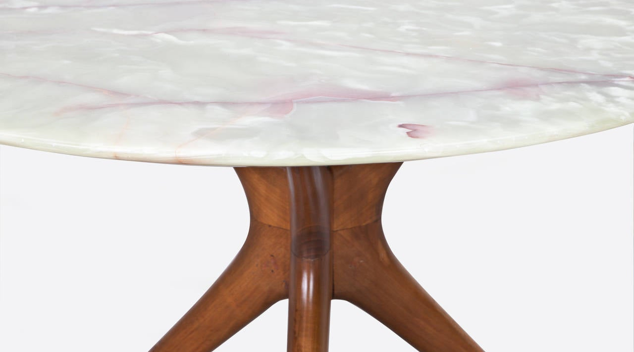 Marble top table - Ico Parisi Round Marble Top Table 3