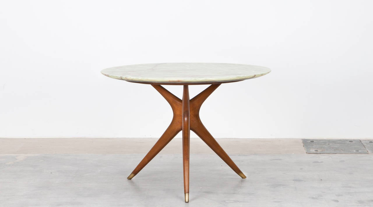 Marble top table - Ico Parisi Round Marble Top Table 2