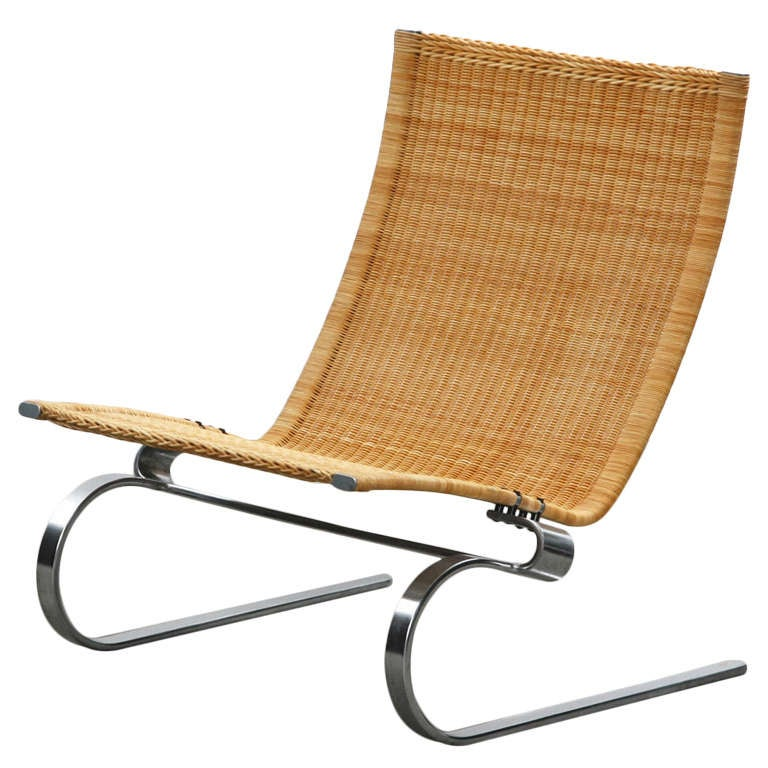 Poul Kjaerholm Caning Lounge Chair At 1stdibs