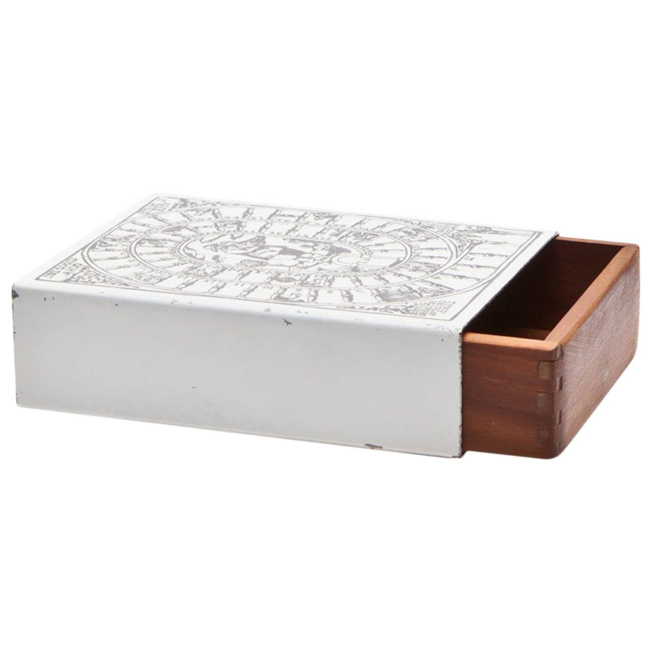 Old Piero Fornasetti Box 'f' For Sale