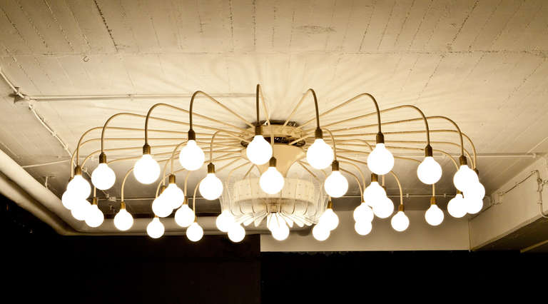 Mid-Century Modern Large Ceiling Lamp For Sale