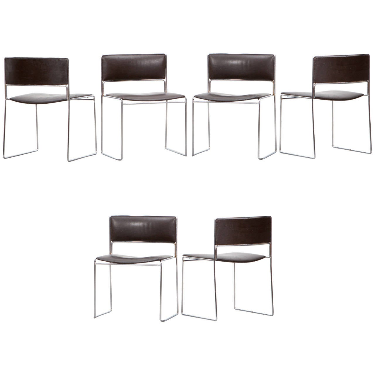 Tobago Stacking Chair Brown Chrome: Fabricius And Kastholm Grasshopper Lounge Chair At 1stdibs