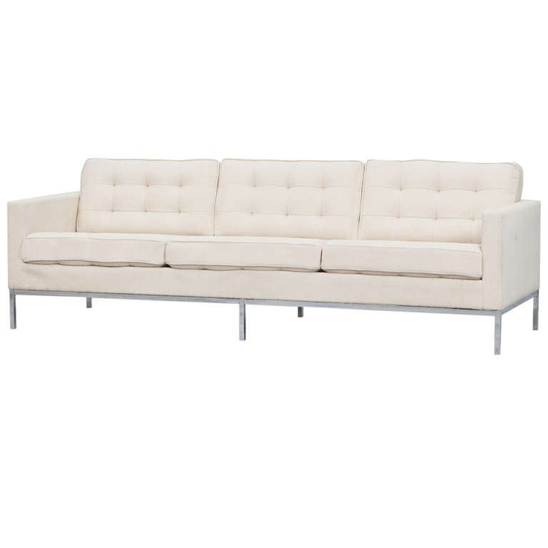 Florence Knoll Three Seat Sofa At 1stdibs