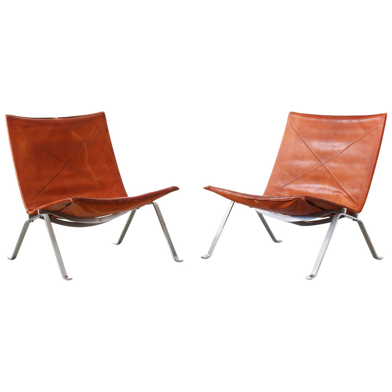 Lounge Chairs PK22 By Poul Kjaerholm For E Kold Christensen At 1stdibs