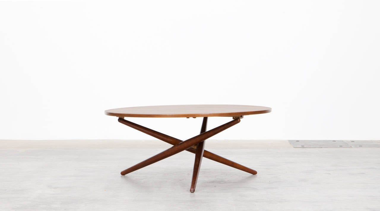 J rg bally eat and tea table c at 1stdibs for Coffee tables you can eat on