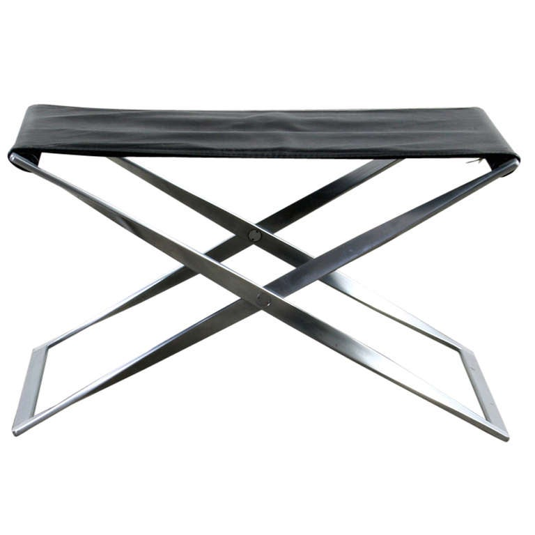 Poul Kjaerholm Folding Stool at 1stdibs