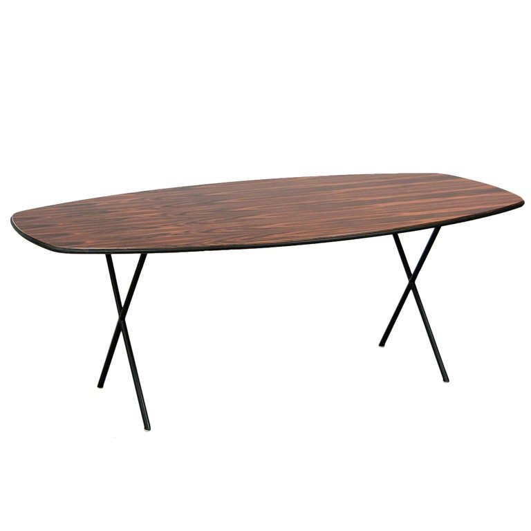 1950's brown wooden Dining Table by George Nelson
