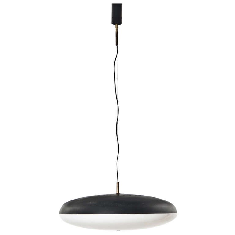 1950s Ceiling Lamp in Black and White
