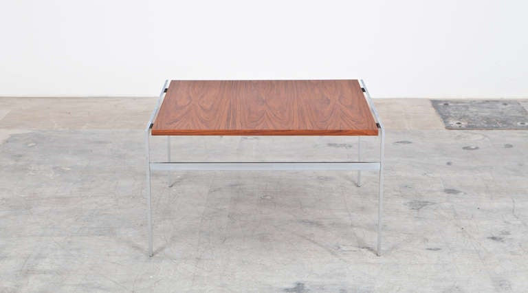 Danish 1960s Brown Wooden Pair of Fabricius and Kastholm Coffee Tables For Sale