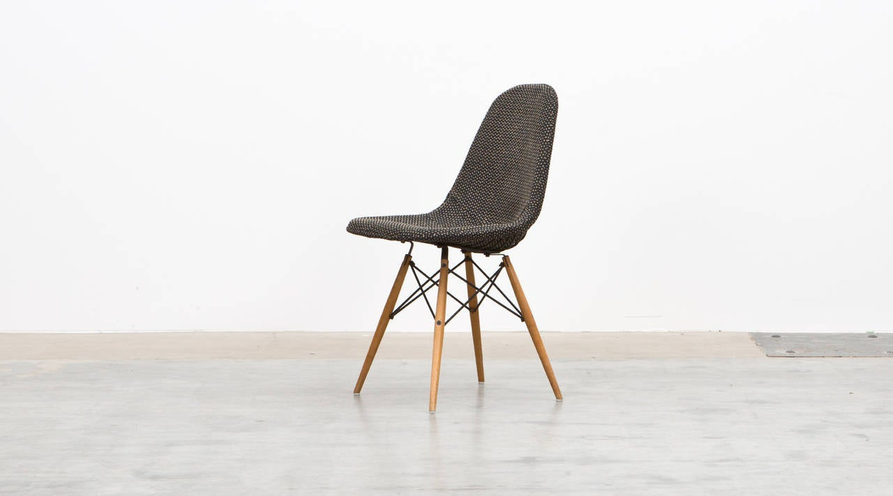 charles and ray eames chair with alexander girard fabric at 1stdibs