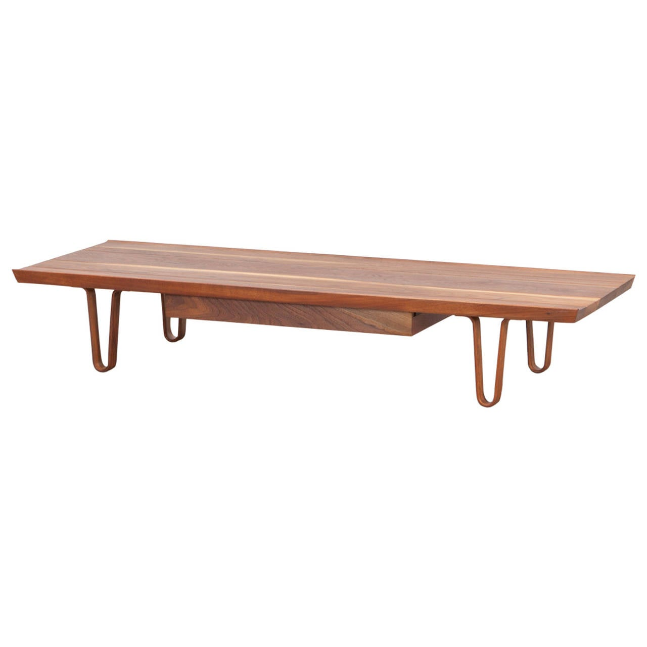 Edward Wormley Bench with Drawer For Sale at 1stdibs