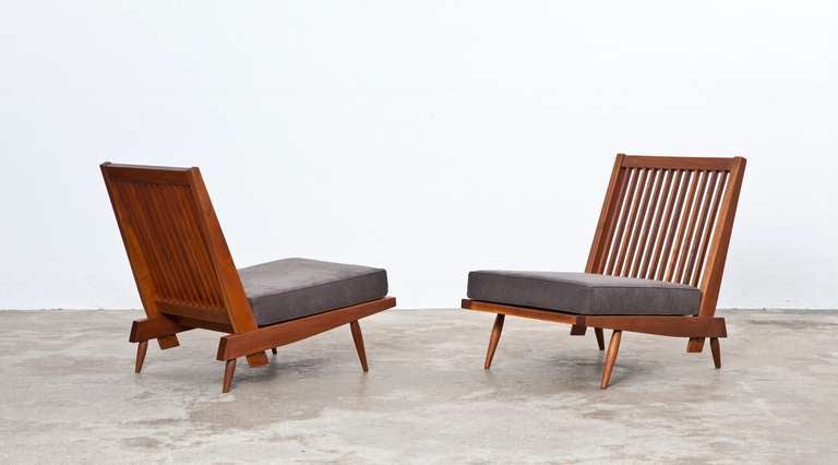 George Nakashima Chairs george nakashima lounge chairs in walnut at 1stdibs
