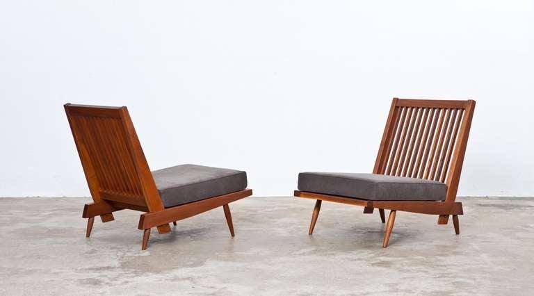 George Nakashima Lounge Chairs In Walnut 2