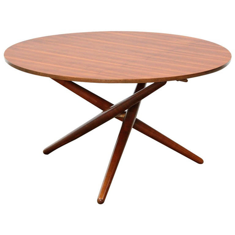 J rg bally eat and tea table at 1stdibs for Coffee tables you can eat on
