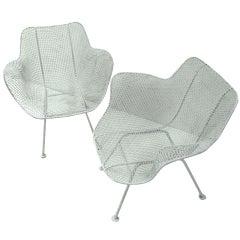 Four Russel Woodard Mid Century Sculptura Garden Lounge Chairs