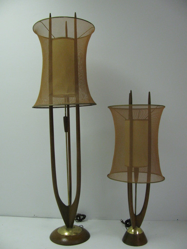 Danish Modern Mid Century Floor Lamp with Copper Mesh ...