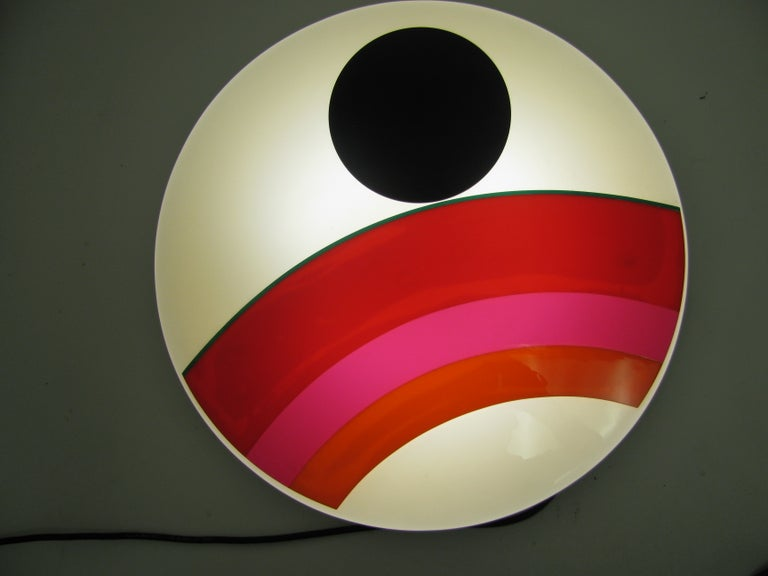 Eugenio Carmi Mid Century Modern Art Sconce Sculpture Installation