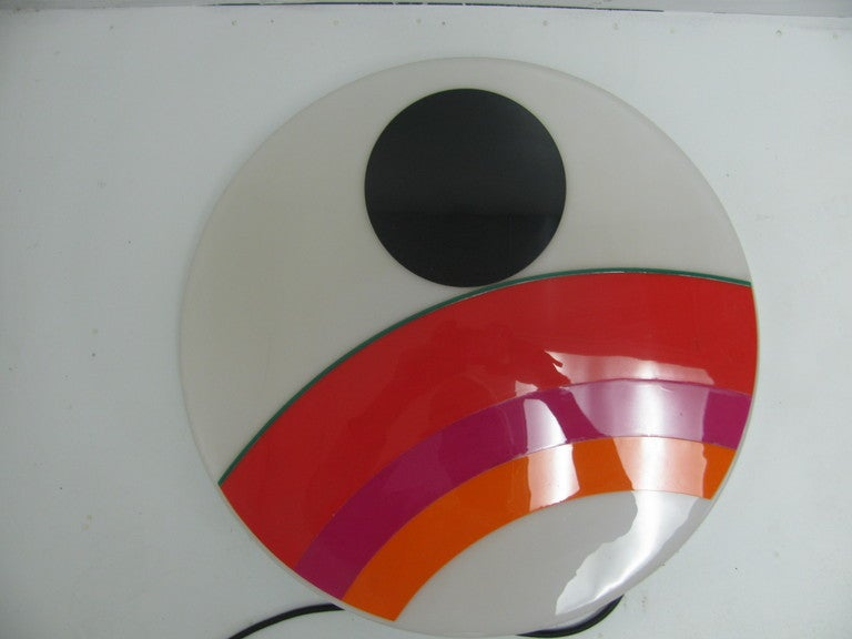 Eugenio Carmi Mid Century Modern Art Sconce Sculpture Installation In Good Condition In Port Jervis, NY