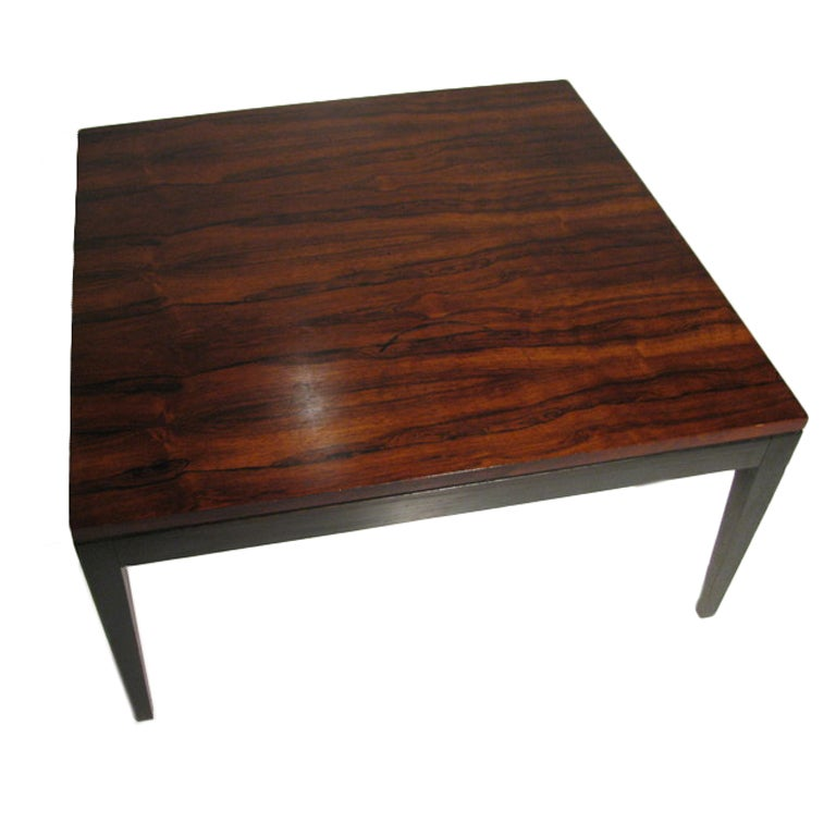 Danish Mid Century Modern Rosewood Cocktail / Coffee Table 1