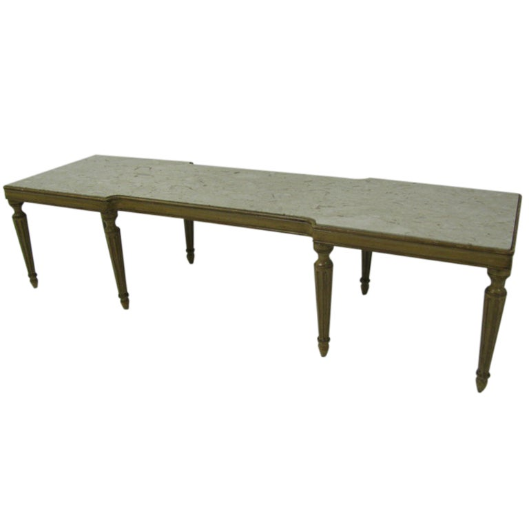 Neoclassical Style French Marbletop Cocktail Coffee Table At 1stdibs