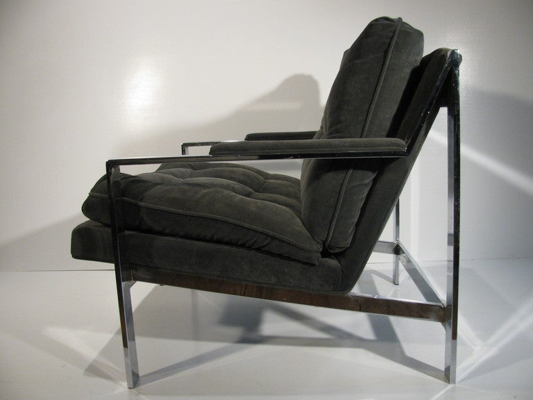 American Pair of Cy Mann Mid Century Modern Lounge Armchairs For Sale
