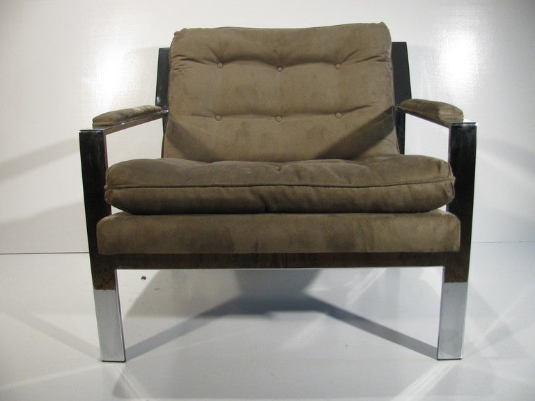 Pair of Cy Mann Mid Century Modern Lounge Armchairs For Sale 1