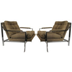 Pair of Cy Mann Midcentury Lounge Armchairs