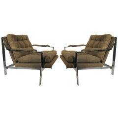 Pair of Cy Mann Mid Century Modern Lounge Armchairs