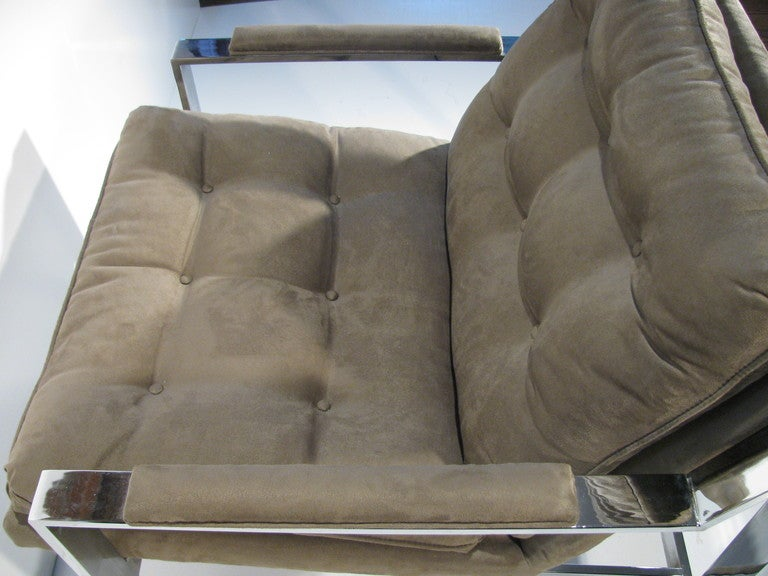 Pair of Cy Mann Mid Century Modern Lounge Armchairs For Sale 2