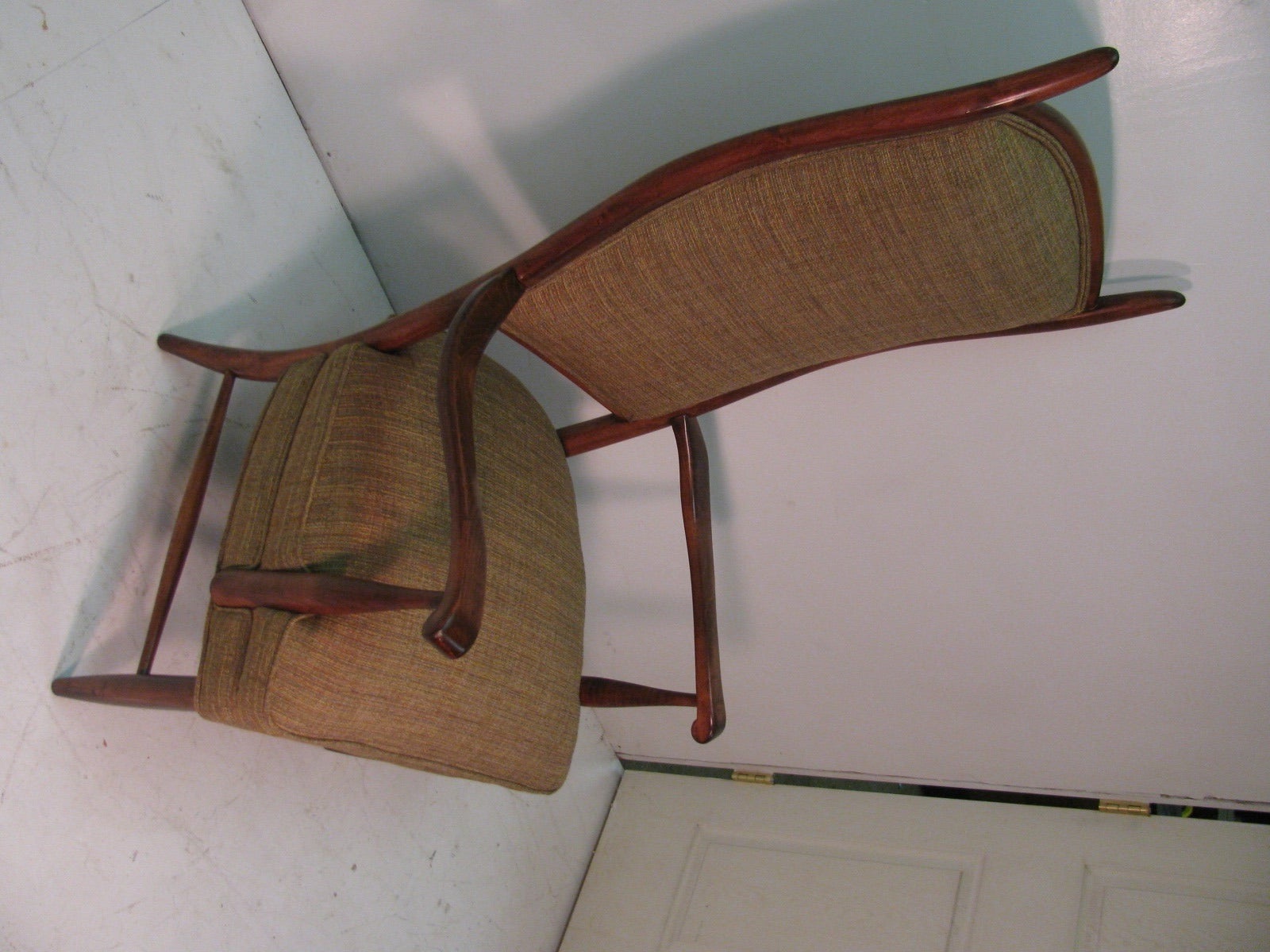 Mid-Century Modern Curved Tallback Whimsical Armchair Edward Wormley In Excellent Condition In Port Jervis, NY