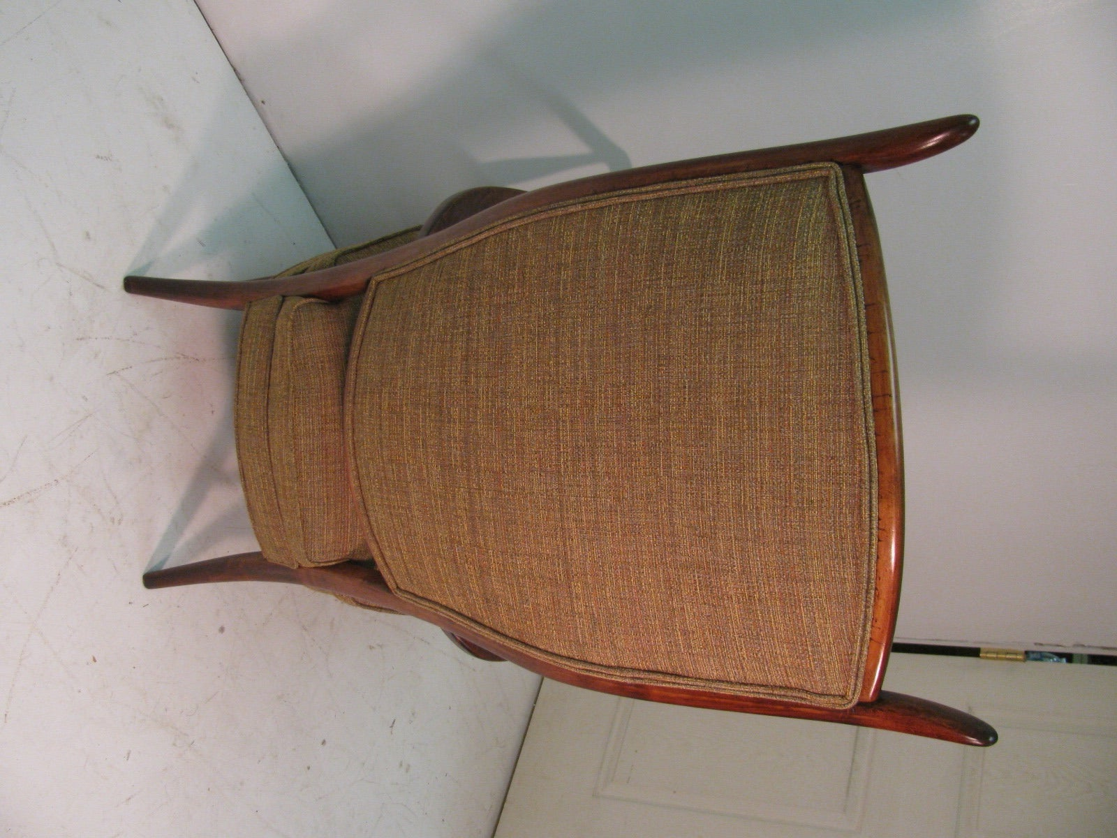 Mid-20th Century Mid-Century Modern Curved Tallback Whimsical Armchair Edward Wormley