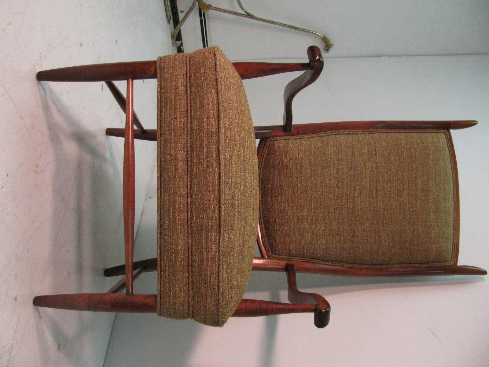 Mid-Century Modern Curved Tallback Whimsical Armchair Edward Wormley 2