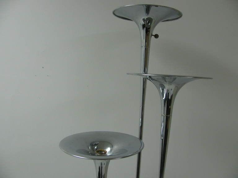 Reggiani Mid Century Modern Trumpet Floor Lamp Italy For Sale 1